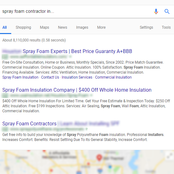 online marketing for spray foam contractors